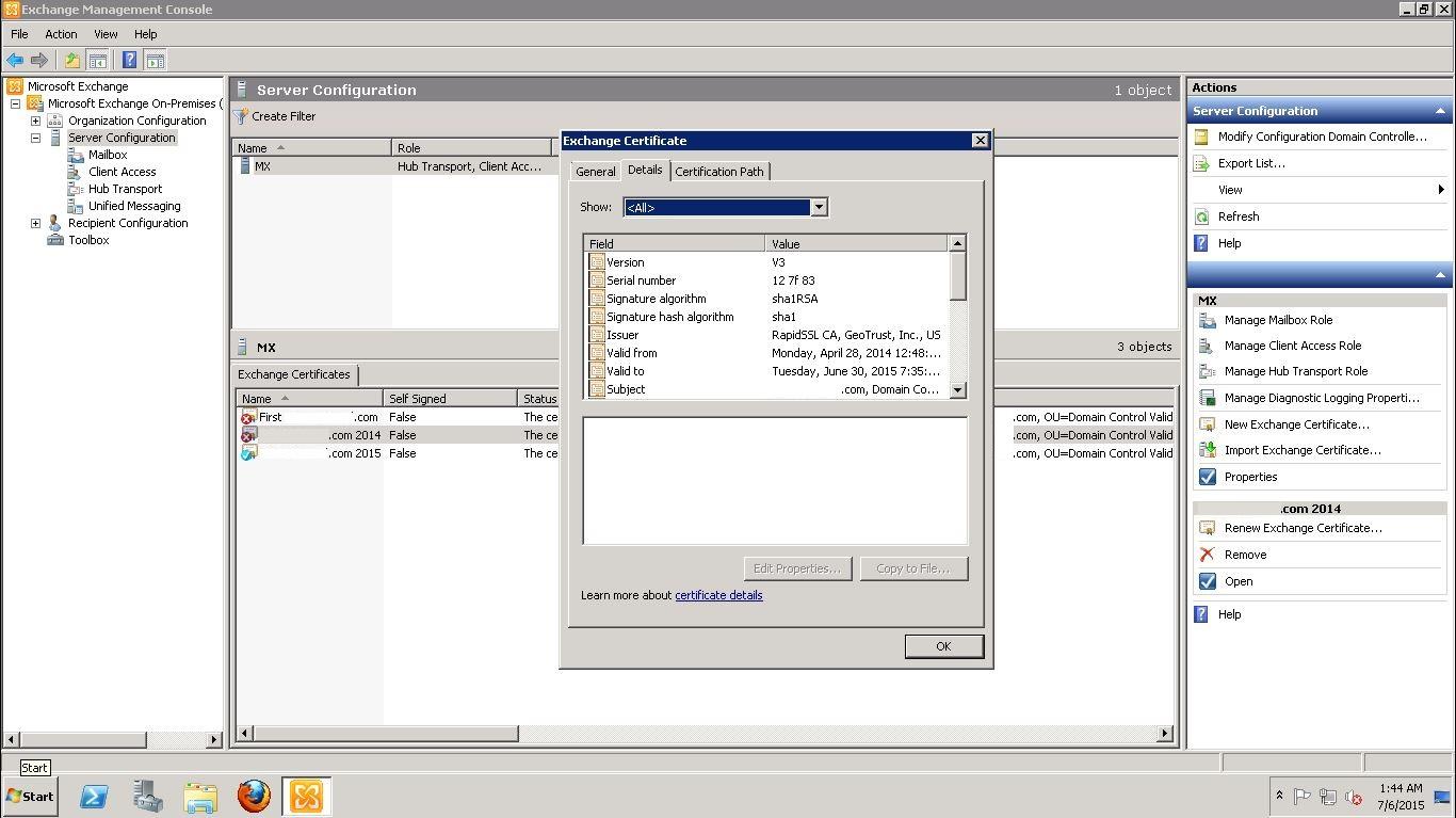 Renew ssl certificate on exchange 2010 with rapidssl 02 03 04 xflitez Images