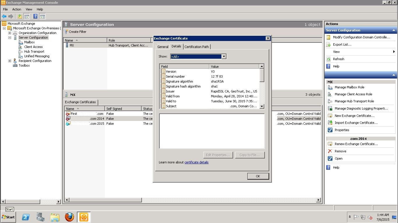 Renew ssl certificate on exchange 2010 with rapidssl 02 03 04 xflitez Image collections