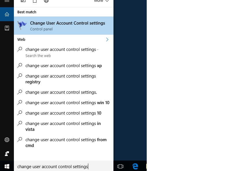 how to change user account control settings